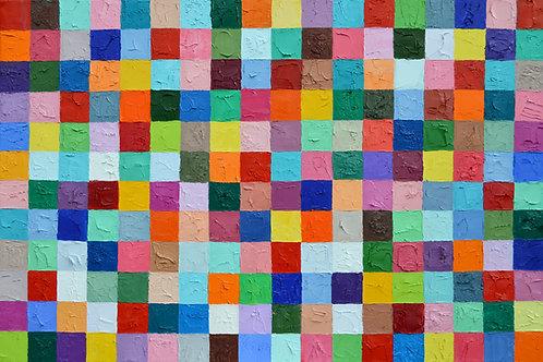 "Pixelated Polka Daubs 2, 24""x36"""