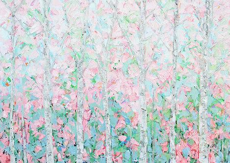 """Field of Cherries 30""""x40"""""""