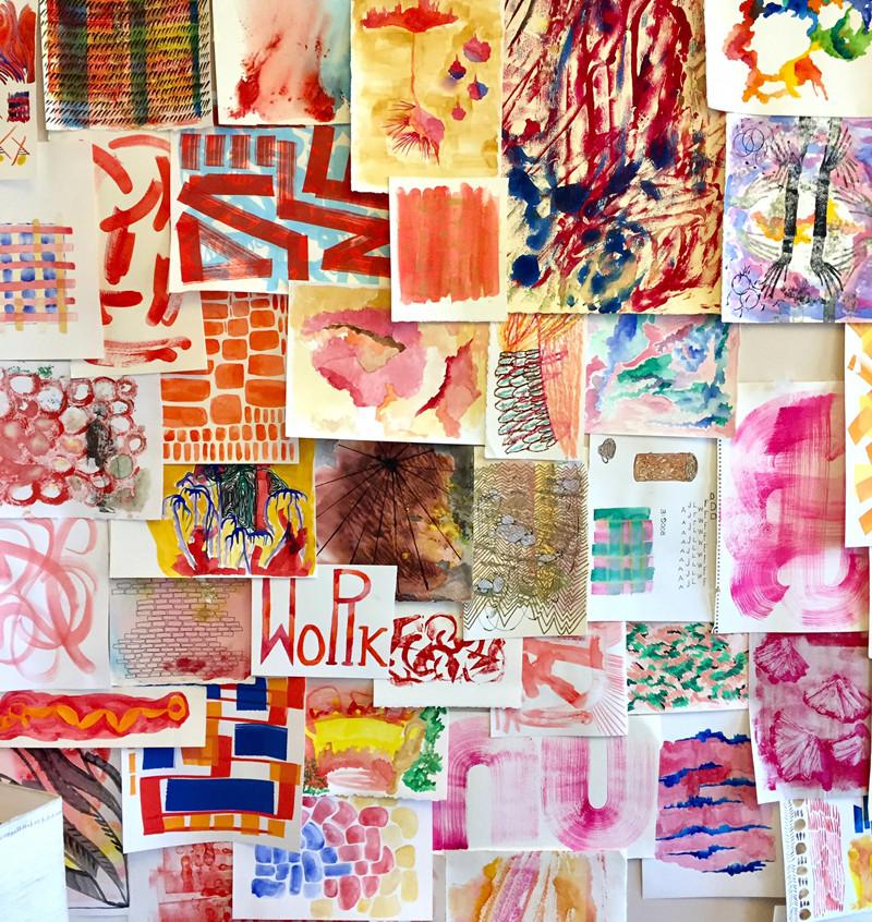 Best wall display: Becky Borlan, room 3512