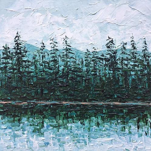 """Devils Lake, 12""""x12"""""""
