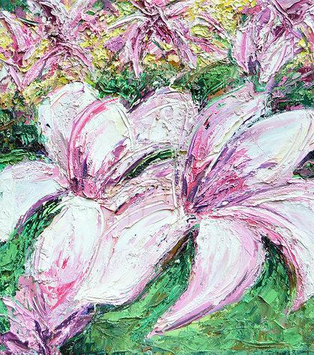 """Magnolia Spring, 35""""x31"""""""