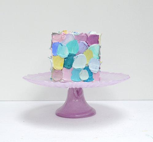 """Mauve Cake, 4.65"""" wide"""