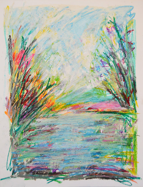 """Spring on the Waterway No. 1 24""""x19"""""""