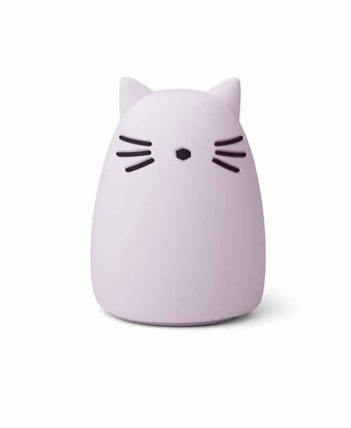 Veilleuse cat light lavender