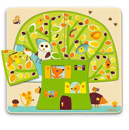"""Puzzle 3 niveaux """"cabane dans les arbres"""""""
