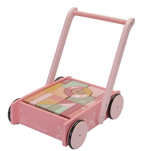 Chariot en bois rose