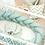 Thumbnail: Tour de lit tressé vert d'eau (M&E)