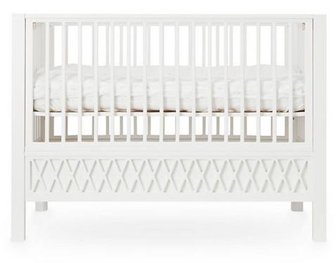 Lit Harlequin blanc 120 x 60 cm