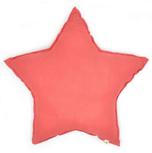 Coussin étoile fraise