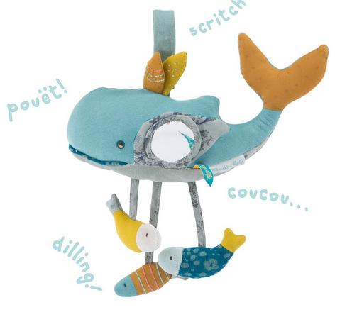 Moulin roty - jouet d'éveil baleine