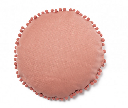 Nobodinoz - Coussin rond dolce vita pink