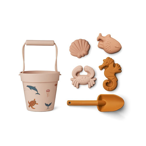 Set de plage Sea creature rose