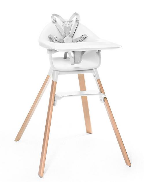Stokke - Chaise haute clikk blanche
