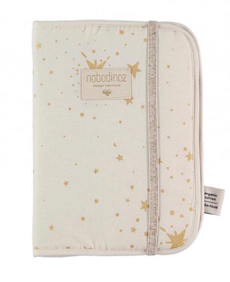 Nobodinoz - Protège carnet de santé gold Stella/natural