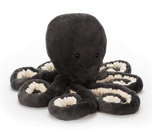 Jellycat - Octopus medium gris foncé