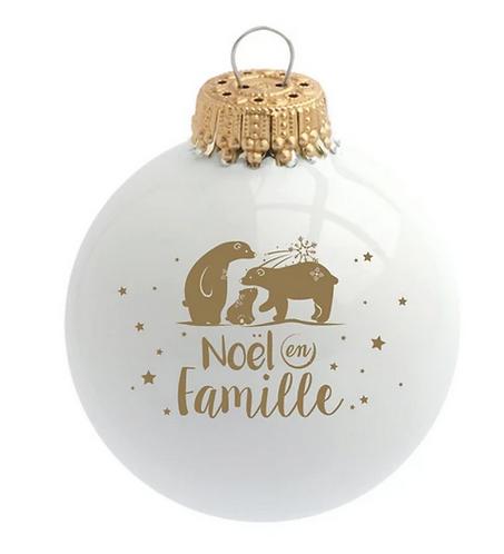 Boule de Noël - Noël en Famille
