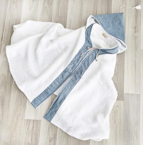 Babyshower - Cape de bain bleu