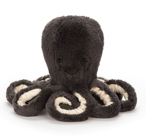 Jellycat - Baby Octopus gris (L&J)