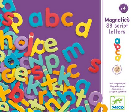 Lettres magnetiques script