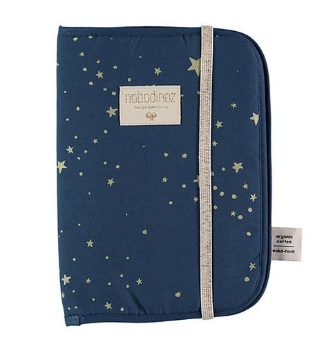 Nobodinoz - Protège carnet de santé gold stella/night blue