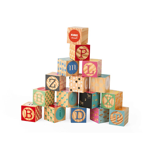 Janod - 16 cubes alphabet