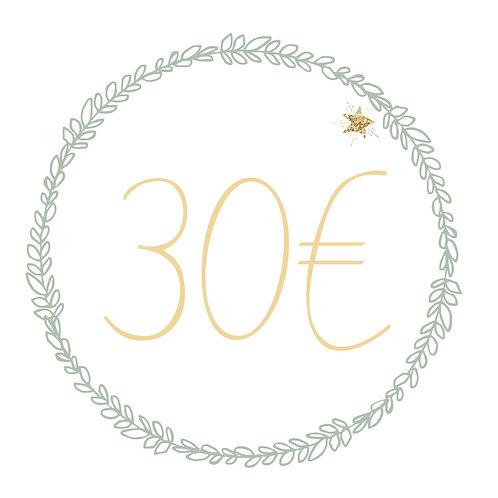 Carte cadeau 30€ (E&F)