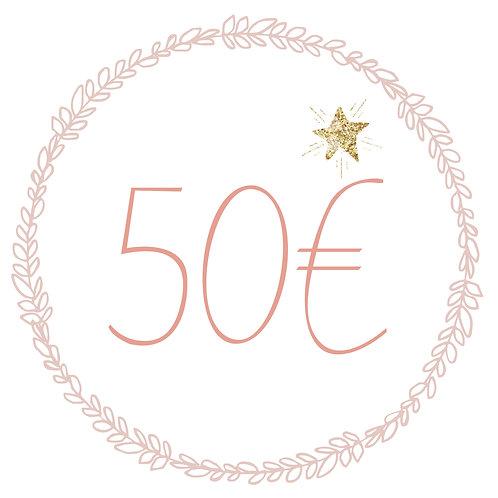 Carte Cadeau 50€ (L&J)