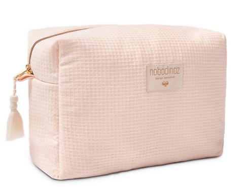 Nobodinoz - Trousse de toilette nid d'abeille Dream pink