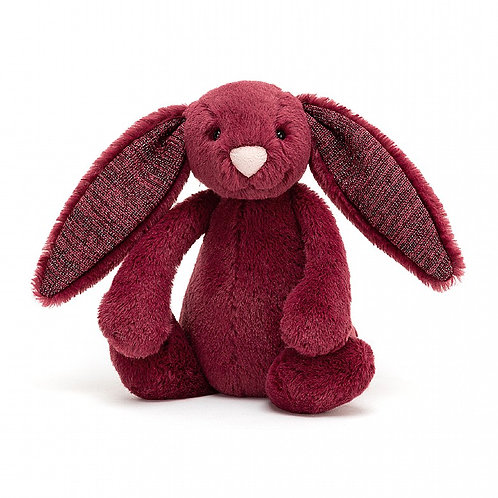 Jellycat - Bashful Bunny Small sparkly cassis