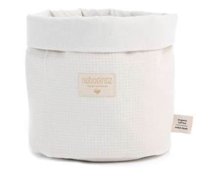 Nobodinoz - Panier Small nid d'abeille natural