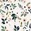 Thumbnail: Papier peint - fleurs fond pâle