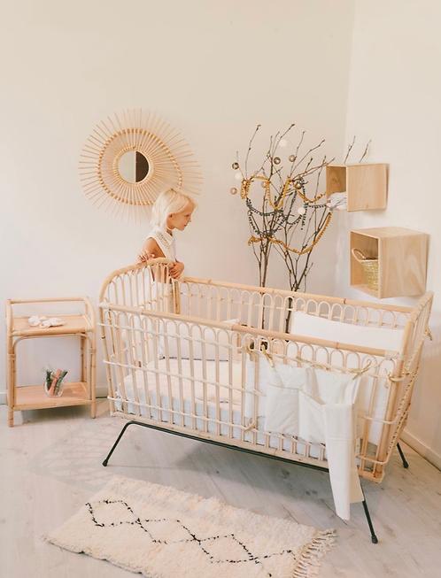 Lit bébé en Rotin 120 x 60 cm