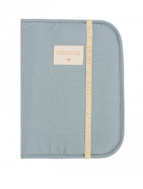 Nobodinoz - Protège carnet de santé stone bleu
