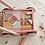 Thumbnail: Chariot en bois rose