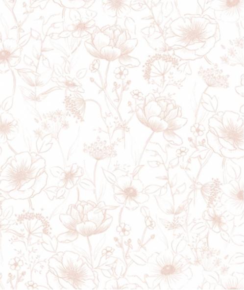 Papier peint - Fleurs Rose