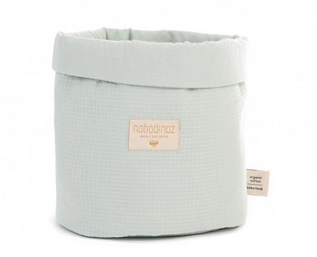 Nobodinoz - Panier Medium nid d'abeille Aqua