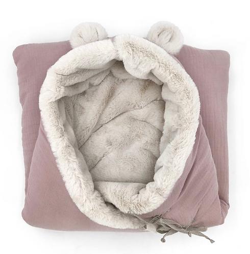 Babyshower - nid d'ange rose