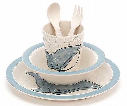 Coffret vaisselle baleine