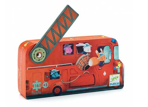 Puzzle 16 pces Camion de pompier