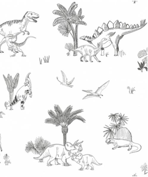 Papier peint - dinosaures