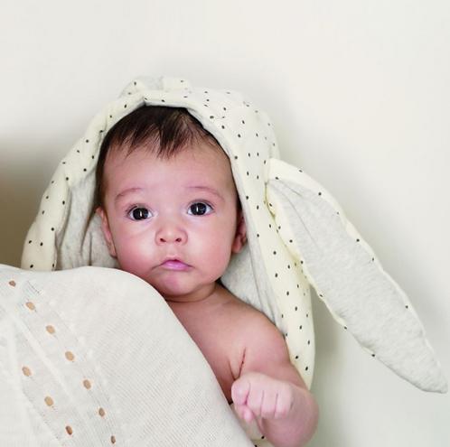 Babyshower - nid d'ange bunny pois