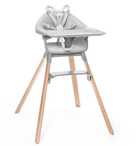 Stokke - Chaise haute clikk grise