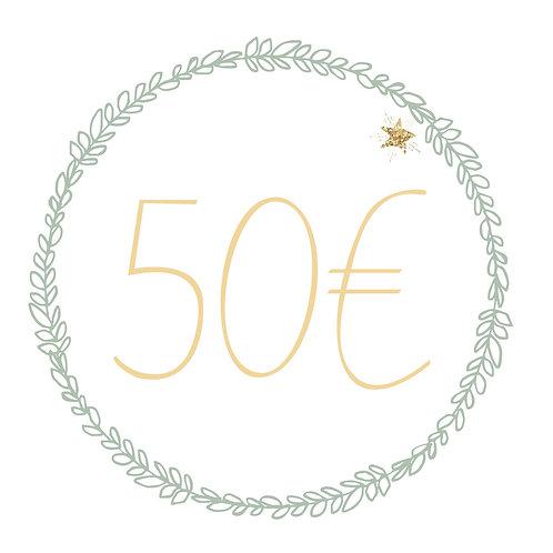 Carte cadeau 50€ (S&R)