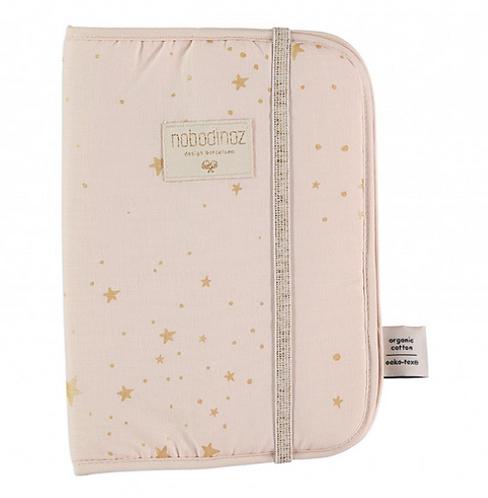 Nobodinoz - Protège carnet de santé gold stella/dream pink