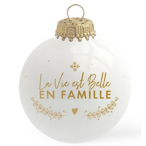 Boule de Noël - La Vie est belle
