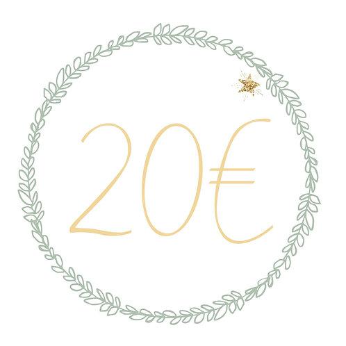 Carte cadeau 20€ (M&R)