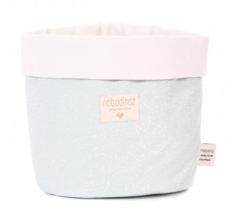 Nobodinoz - Panier Medium White bubble/aqua