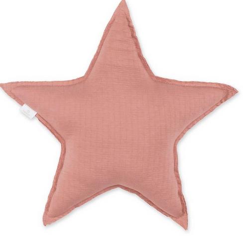 Coussin étoile vieux rose