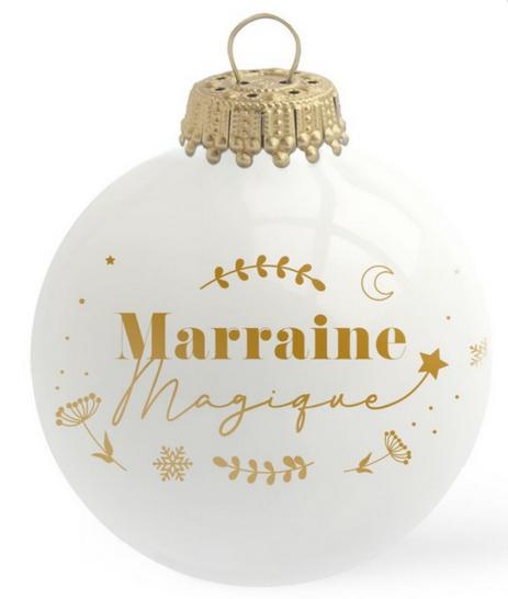Boule de Noël - Marraine