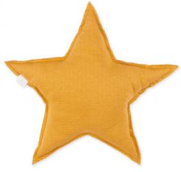 Coussin étoile moutarde